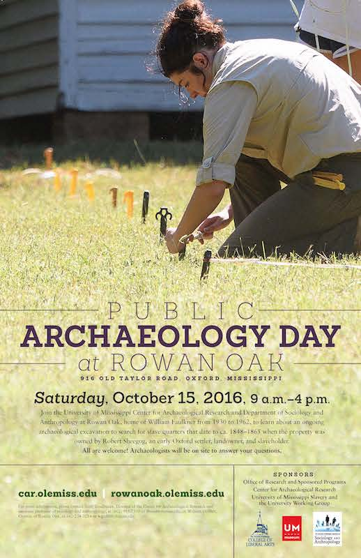 poster for 2016 Archaeology Day