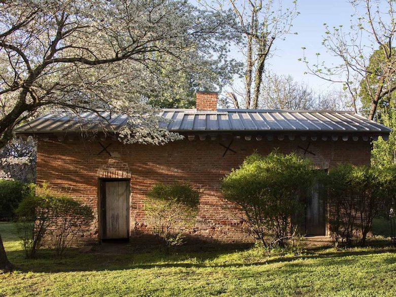 The smokehouse predates Faulkner and has no affiliation with him prior to his ownership. The smokehouse is a one-room property.
